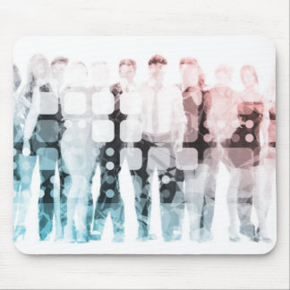 Empowered Professionals Working as a Team Concept Mouse Pad