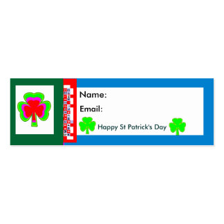 Empowered The MUSEUM Zazzle Shamrock2 Double-Sided Mini Business Cards (Pack Of 20)