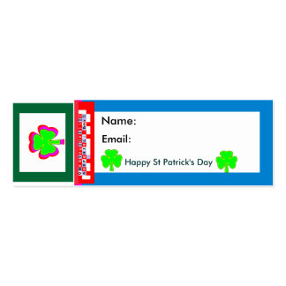 Empowered The MUSEUM Zazzle Shamrock Double-Sided Mini Business Cards (Pack Of 20)
