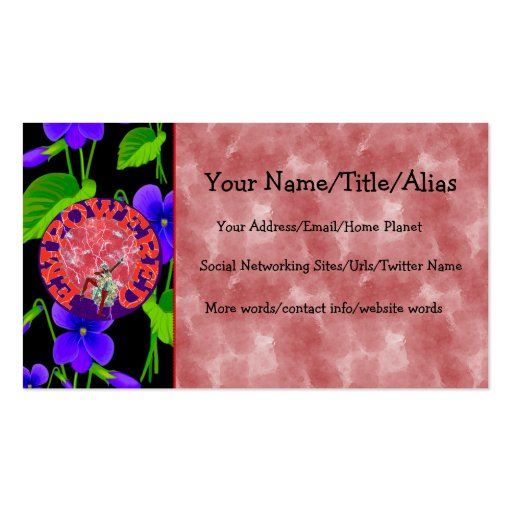 Empowered woman business card zazzle for Business cards for women