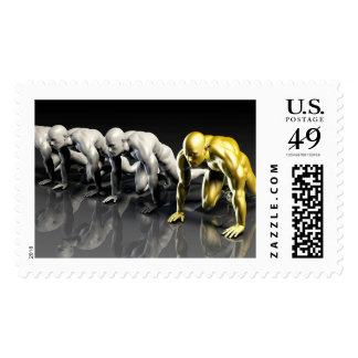 Empowered Workforce that is Motivated Confident Postage Stamp