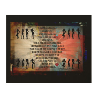 Empowering quotes wood wall decor