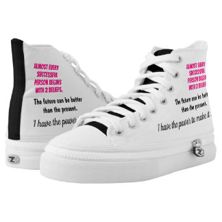 Empowering Thoughts High-Top Sneakers