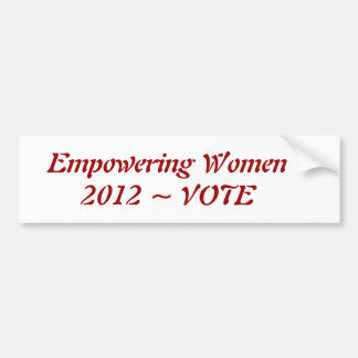 Empowering Women Bumper Stickers