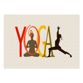 Empowering Yoga Meditation Pose Large Business Card