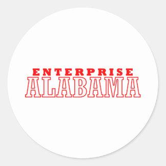 Empresa, Alabama Pegatina Redonda