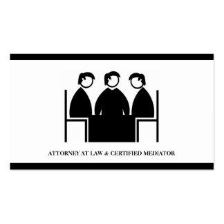 Empresa de la asesoría jurídica de la mediación tarjetas de visita