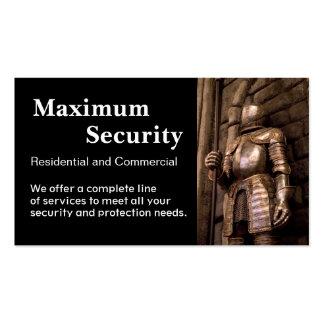 Empresa de seguridad tarjetas de visita