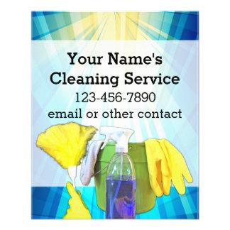 """Empresa de servicios de encargo de la limpieza de folleto 4.5"""" x 5.6"""""""