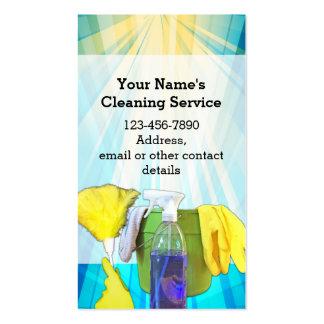 Empresa de servicios de encargo de la limpieza de tarjetas de visita