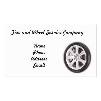 Empresa de servicios del neumático y de la rueda plantillas de tarjetas personales