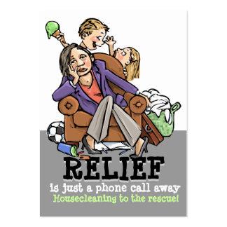 Empresa de servicios housecleaning profesional tarjetas de visita grandes