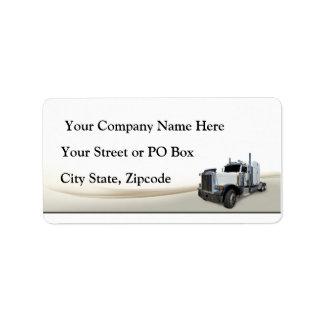 Empresa de transportes etiquetas de dirección