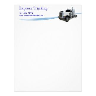 Empresa de transportes membrete a diseño