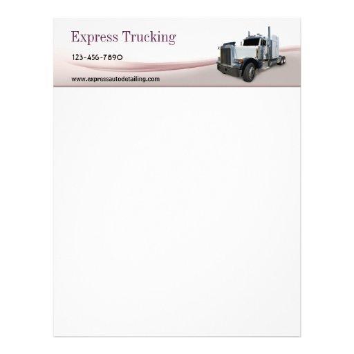 Empresa de transportes membrete personalizado
