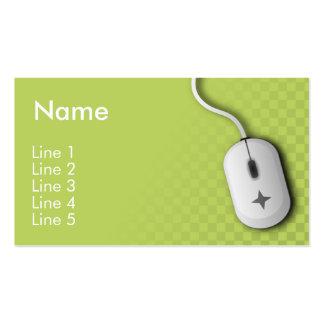 Empresa informática verde tarjeta personal
