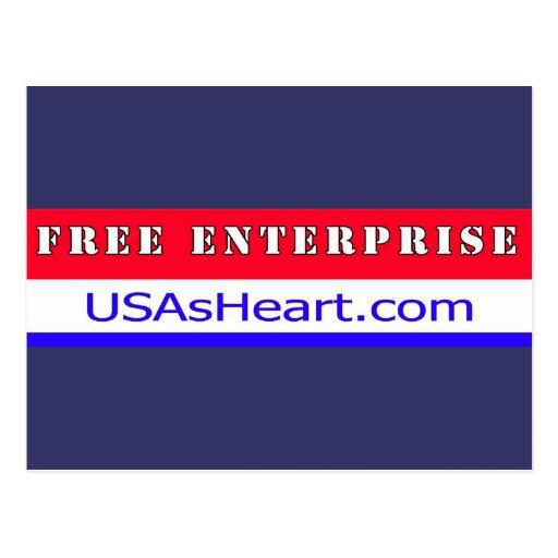 Empresa libre - el corazón de la libertad de los tarjeta postal