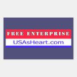 Empresa libre Entreprenuer los E.E.U.U. América Rectangular Pegatina