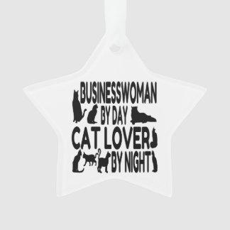 Empresaria del amante del gato