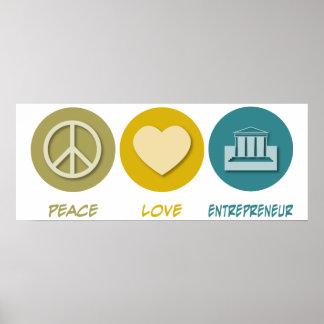 Empresario del amor de la paz impresiones