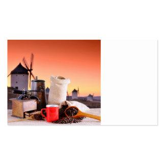 Empresas de cafés. plantilla de tarjeta de visita
