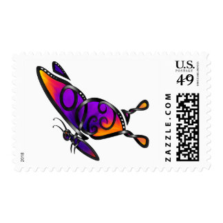 Empress Butterfly Postage Stamps