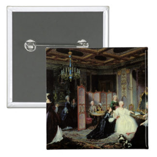 Empress Catherine the Great  receiving a 2 Inch Square Button