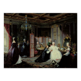 Empress Catherine the Great  receiving a Poster
