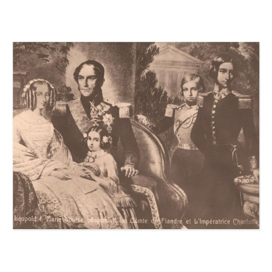 Empress Charlotte of Mexico & family #004M Postcard
