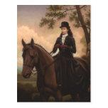 Empress Elisabeth riding horse sidesaddle #025SS Postcard