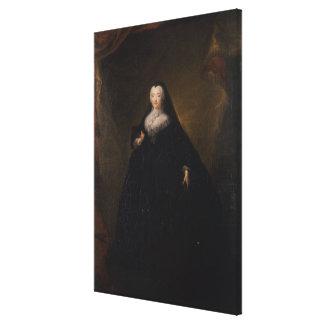 Empress Elizabeth in Black Domino, 1748 Canvas Print