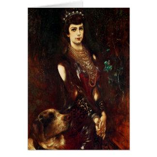 Empress Elizabeth of Austria, 1883 Greeting Card