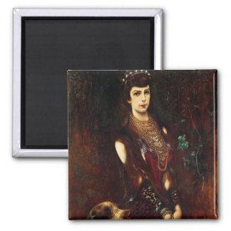 Empress Elizabeth of Austria, 1883 2 Inch Square Magnet