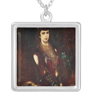Empress Elizabeth of Austria, 1883 Square Pendant Necklace