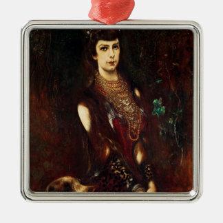 Empress Elizabeth of Austria, 1883 Square Metal Christmas Ornament