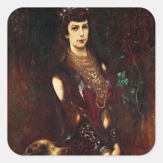 Empress Elizabeth of Austria, 1883 Square Sticker