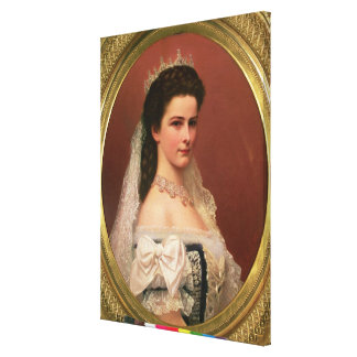 Empress Elizabeth of Bavaria  in Hungarian Canvas Print