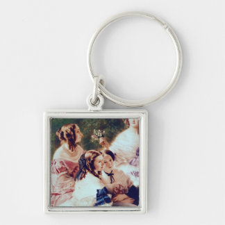 Empress Eugenie  and her Ladies in Waiting Keychain