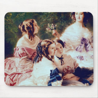Empress Eugenie  and her Ladies in Waiting Mouse Pad