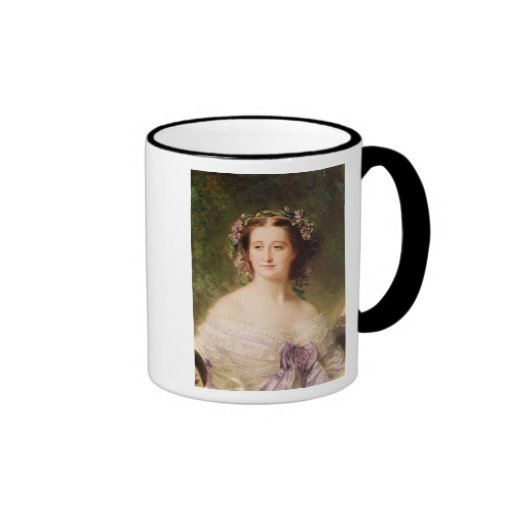 Empress Eugenie  and her Ladies in Waiting Ringer Coffee Mug
