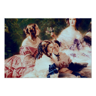 Empress Eugenie  and her Ladies in Waiting Poster