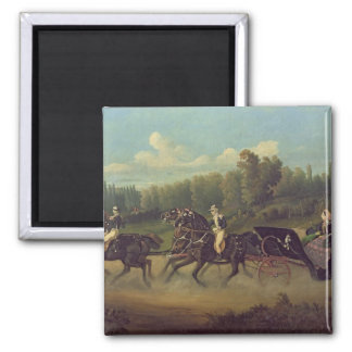 Empress Eugenie  and Queen Victoria  in the 2 Inch Square Magnet