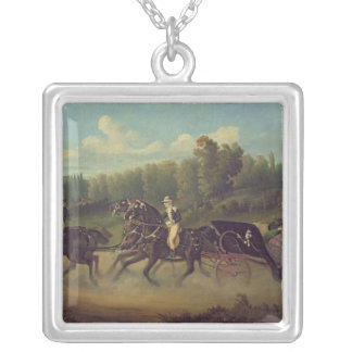 Empress Eugenie  and Queen Victoria  in the Square Pendant Necklace