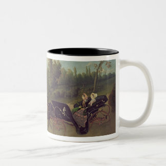 Empress Eugenie  and Queen Victoria  in the Two-Tone Coffee Mug