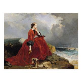 Empress Eugenie  at Biarritz, 1858 Postcard
