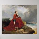 Empress Eugenie  at Biarritz, 1858 Poster