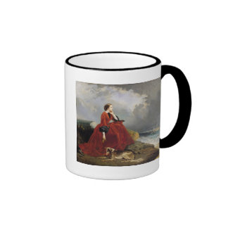 Empress Eugenie  at Biarritz, 1858 Ringer Mug