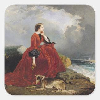 Empress Eugenie  at Biarritz, 1858 Square Sticker