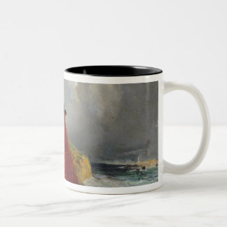 Empress Eugenie  at Biarritz, 1858 Two-Tone Coffee Mug