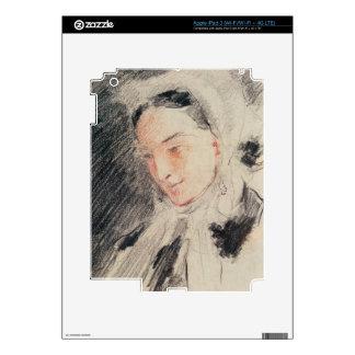 Empress Eugénie (black & red chalk) iPad 3 Decals